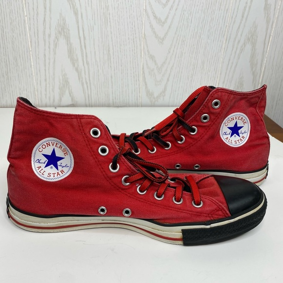 Converse Red Unisex High Top Shoes Men's  Size 9